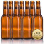 Botellas vacias de cerveza 33cl reutilizables con...