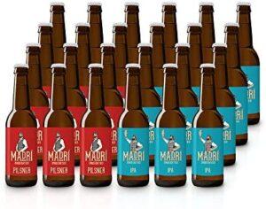 Madrí - Pack degustación de Cerveza Artesana - Caja con 24 botellas de 330 ml